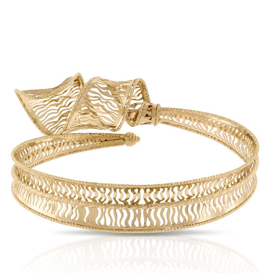 Toscano Collection Curled Bangle Bracelet 14K
