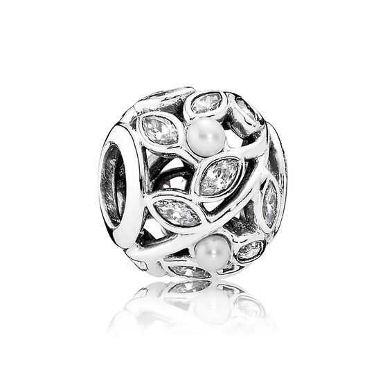 PANDORA Luminous Leaves CZ Charm