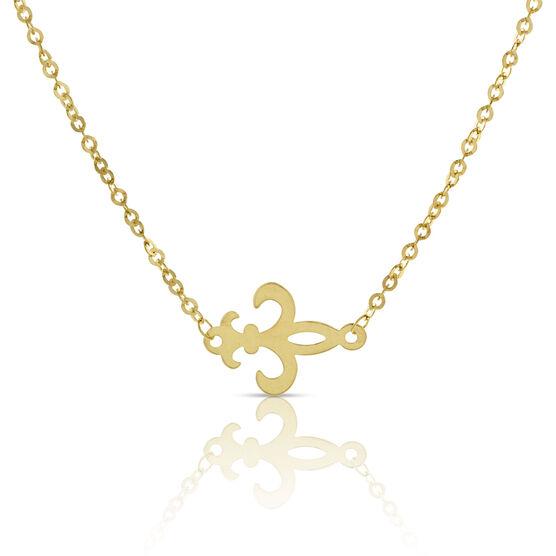 Fleur-de-Lis Necklace 14K