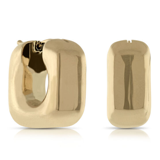 Toscano Collection Square Hoop Earrings 14K
