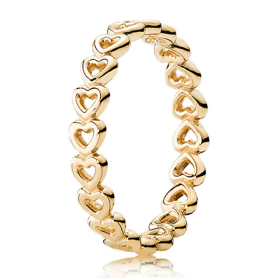 PANDORA Linked Love Ring 14K
