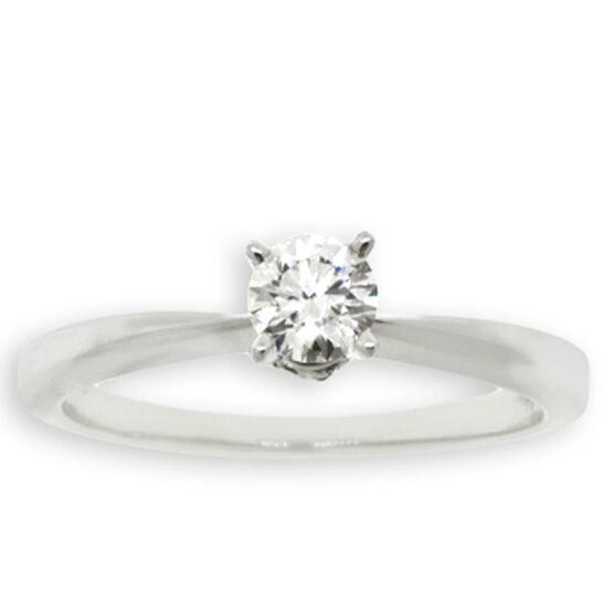 Ikuma Canadian Ideal Cut Diamond Solitaire Ring 14K, 1/3 ct.