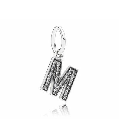 PANDORA CZ Dangle 'M' Charm