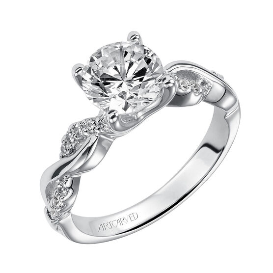 ArtCarved Gabriella Diamond Semi-Mount Ring