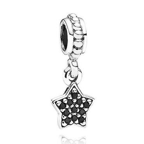PANDORA Black Pavé Star Charm RETIRED