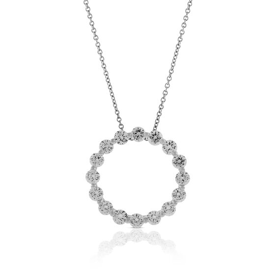 Signature Forevermark Diamond Circle Pendant 18K