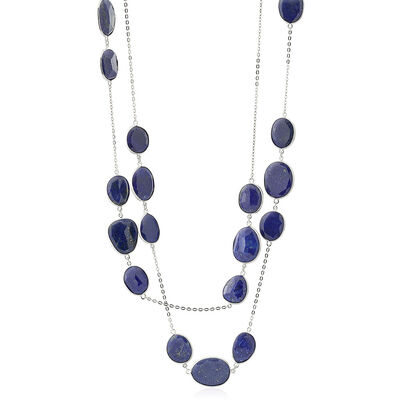 Lisa Bridge Lapis Lazuli Station Necklace