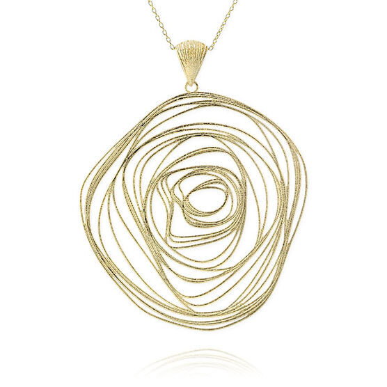 Toscano Collection Curled Medallion 14K