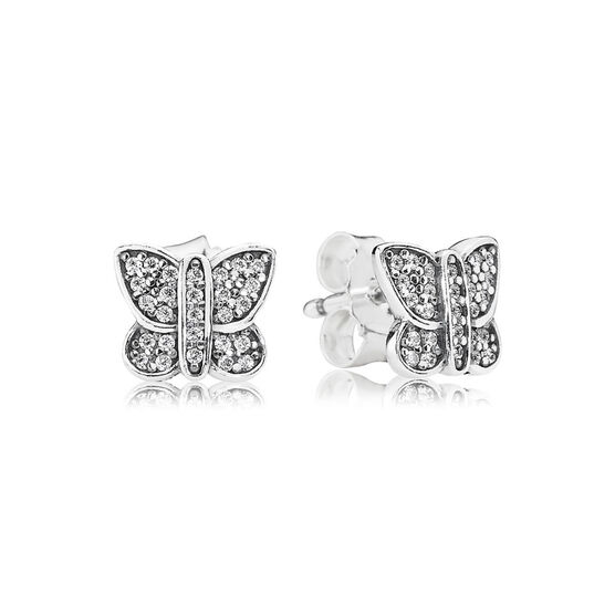 PANDORA Sparkling Butterfly Earrings