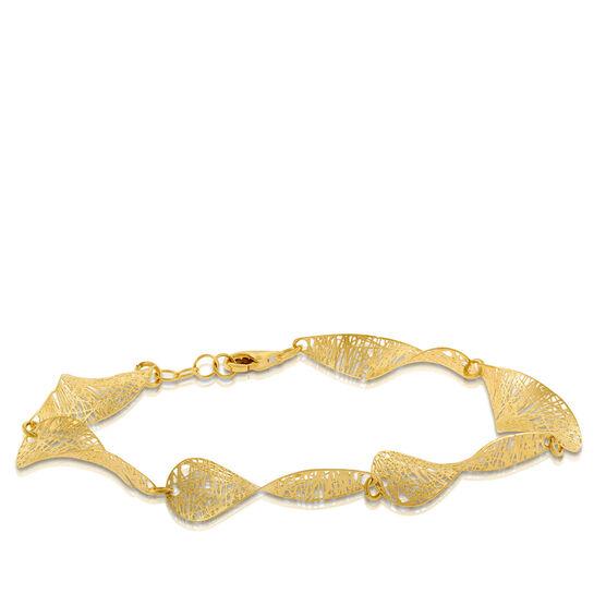Toscano Collection Curved Leaf Bracelet 14K