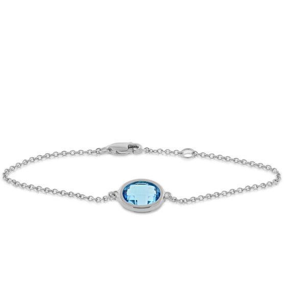 Blue Topaz Bracelet 14K