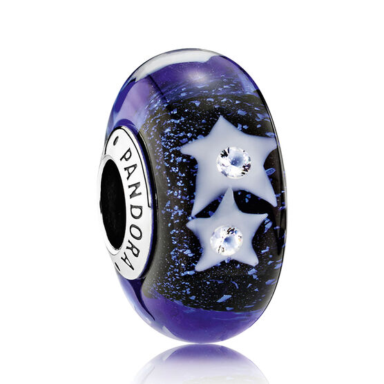 PANDORA Starry Night Sky CZ Murano Charm