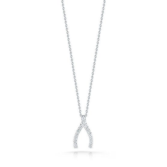 Roberto Coin Diamond Wishbone Pendant 18K