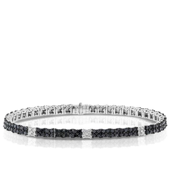 Black & White Diamond Bracelet, 14K