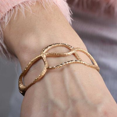 Rose Gold Toscano Collection Open Cuff Bracelet 18K