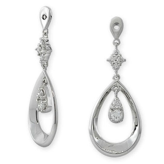 Diamond Dangle Earring Jackets 14K