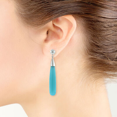 Lisa Bridge Chalcedony Earrings