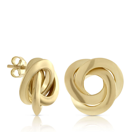 Toscano Collection Interlocking Earrings 18K