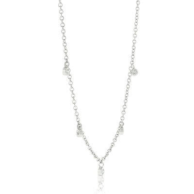 Five Diamond Necklace 14K