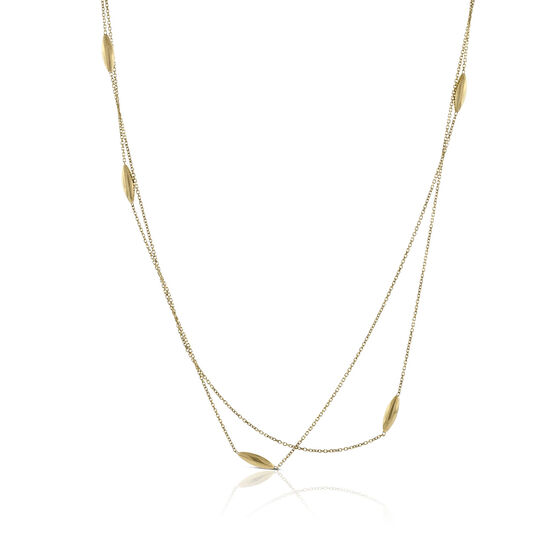 Teardrop Station Necklace 14K