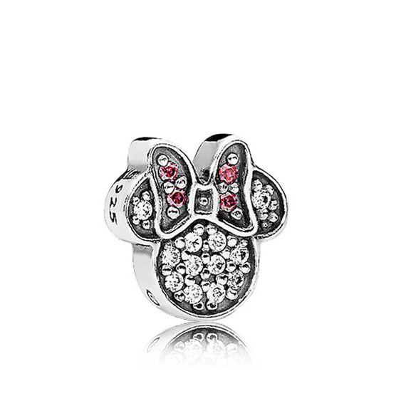 PANDORA Disney, Sparkling Minnie Icon Crystal Petite Charm