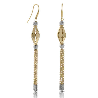 Toscano Collection Tassel Earrings 14K