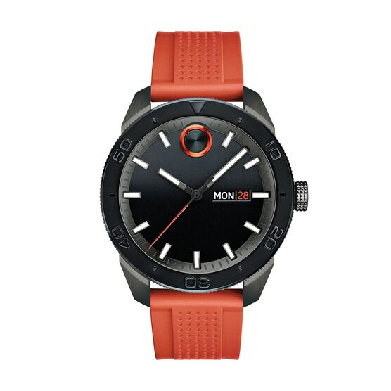 Movado Bold Sport Orange Strap Watch