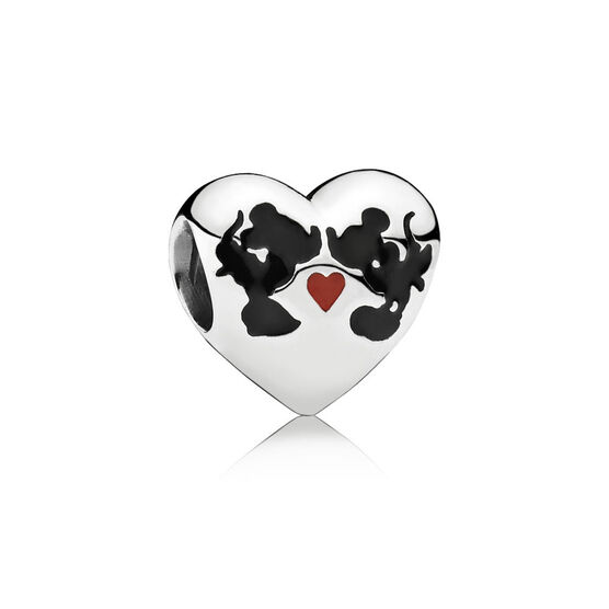 PANDORA Disney Minnie & Mickey Kiss Charm