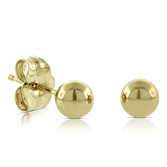 4mm Ball Earrings 14K