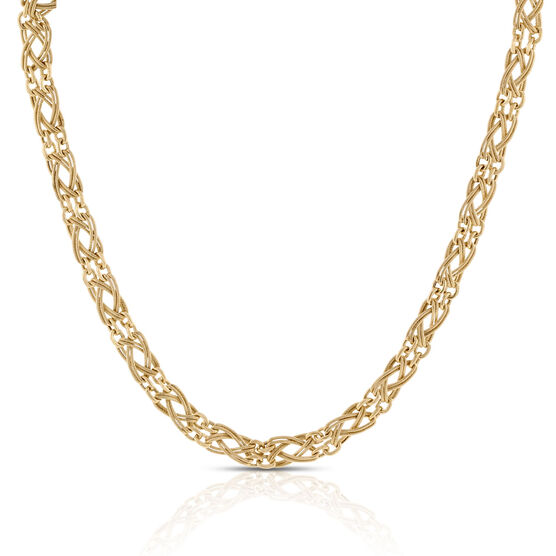Toscano Braided Necklace 14K