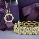 Roberto Coin Diamond Barocco Bangle 18K