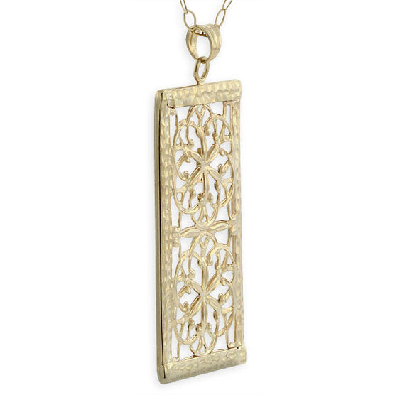 Toscano Collection Rectangular Pendant 14K