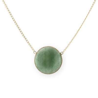 Aventurine Necklace 14K