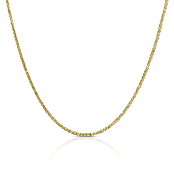 Diamond Cut Wheat Chain 14K, 24""