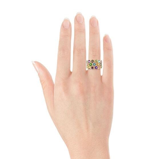 Multi-Gem Ring 14K