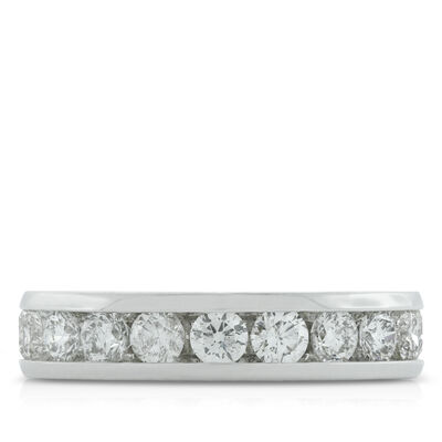 Channel Set Diamond Band 1 & 1/4 ctw. 14K
