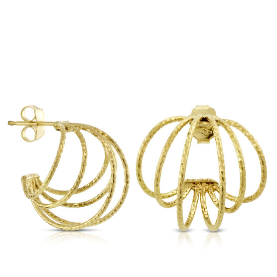 Toscano Collection Wire Hoop Earrings 18K