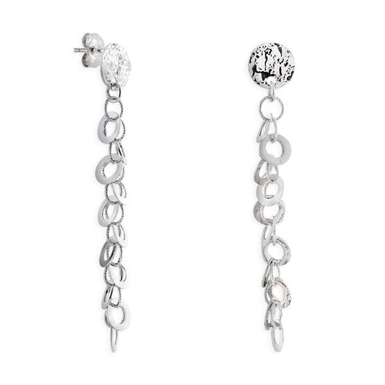 Chain Dangle Earrings 14K