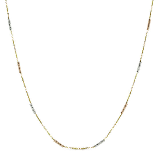 "Toscano Collection Tube Chain 24"" 14K"
