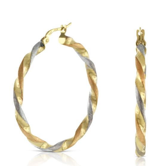 Toscano Collection Hoop Earrings 18K