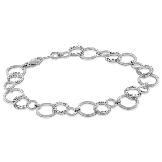Diamond Circle Bracelet 14K