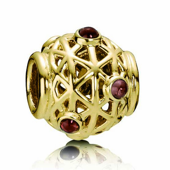 PANDORA Constellation Rhodolite Charm 14K RETIRED