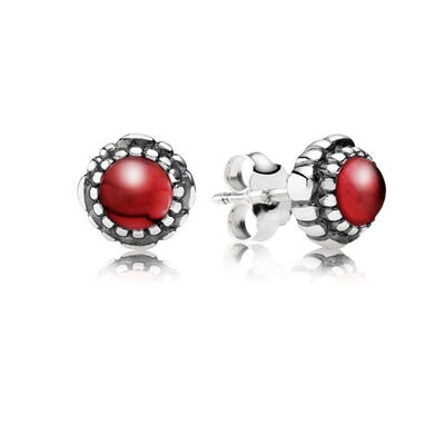 PANDORA Birthday Blooms January Earrings