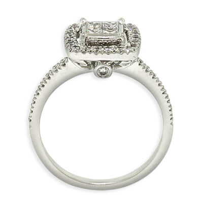 Square Diamond Wedding Set 14K
