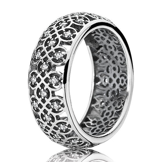 PANDORA INTRICATE LATTICE RING