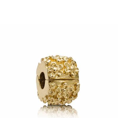 PANDORA Golden Flower Clip 14K