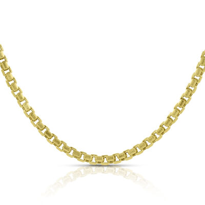 "Diamond Cut Box Chain 18"" 14K"