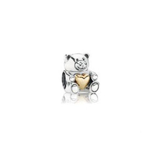 PANDORA Bear My Heart Charm, Silver & 14K