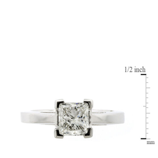 Princess Cut Diamond Solitaire Ring 14K, 1 & 1/2 ct.
