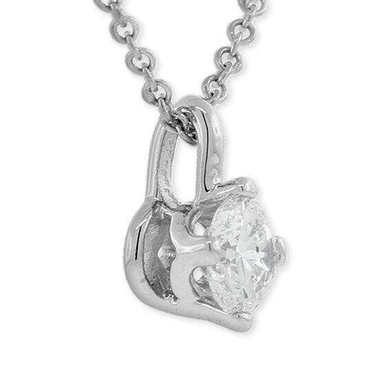 Forevermark Diamond Solitaire Pendant 18K, 1/3 ct.